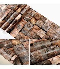 wallp aper salón dormitorio etiqueta brown pared pegatinas y calcomanías auto adhesivo 53x100cm - blanco antiguo
