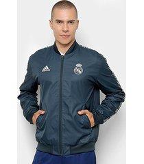 jaqueta real madrid hino adidas masculina