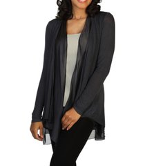 skinnytees knit and silk cardigan