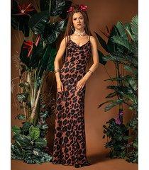jennifer maxi - suknia z dekoltem wodą