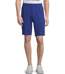 puma men's cotton-blend shorts - blue - size l