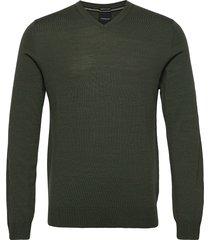 100 % merino v-neck knit gebreide trui v-hals groen lindbergh
