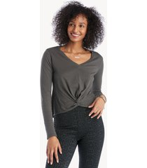 la made women's tamara dress twist tee in color: raven size xs from sole society