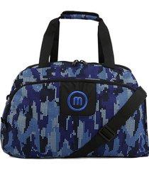 maleta 262 macoly lona azul militar
