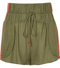 shorts rosa chá tina military green beachwear verde feminino (capulet olive, g)