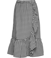 seer jessie skirt knälång kjol svart bruuns bazaar