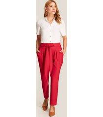 pantalón anudado rojo 12