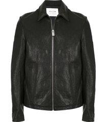 1017 alyx 9sm leone leather jacket - black