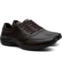 sapatênis couro hshoes air move pelica conforto masculino - masculino