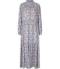 maxi-jurk met bloemenprint penny  blauw