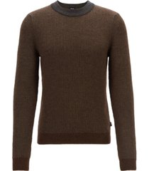 boss men's textured sweater