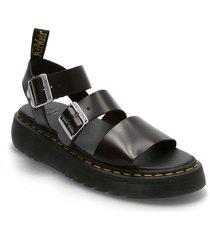 gryphon quad shoes summer shoes flat sandals svart dr. martens