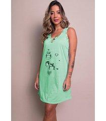 camisola feminina malha serra e mar modas estampada nathã¡lia verde ãgua - verde - feminino - poliã©ster - dafiti