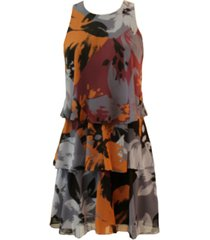 taylor petite ruffled tiered dress