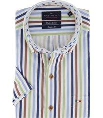 overhemd portofino korte mouwen gestreept