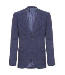 blazer masculino s14 xadrez - azul