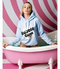 niebieska bluza z kapturem bubble gum