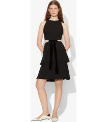 proenza schouler crepe cut out tie dress black 2