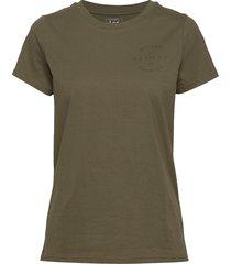 seasonal graphic tee t-shirts & tops short-sleeved grön lee jeans