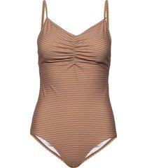 aliaiw swimsuit baddräkt badkläder brun inwear