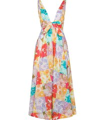 zimmermann bells floral-print maxi dress - blue
