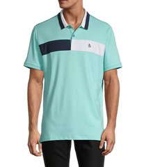 original penguin men's engineered chest stripe golf polo - bright white - size xl