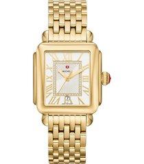 women's michele deco madison diamond dial watch head & bracelet, 33mm