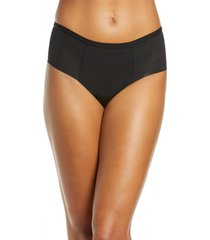women's proof leak & period proof mesh hipster panties, size x-large - black