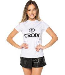 camiseta basic croix branca - branco - feminino - dafiti
