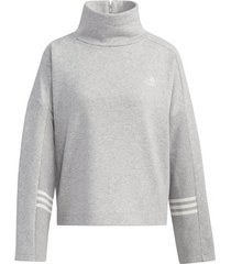 sweater adidas essentials comfort sweatshirt met rolkraag