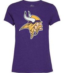minnesota vikings nike logo t-shirt t-shirts & tops short-sleeved lila nike fan gear