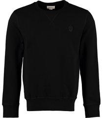 alexander mcqueen skull patch cotton sweatshirt