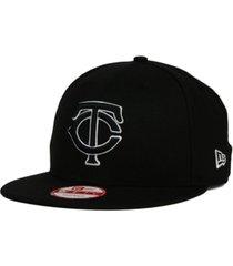 new era minnesota twins black white 9fifty snapback cap