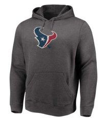majestic houston texans men's distressed logo hoodie