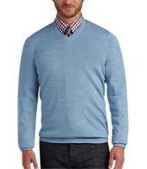 joseph abboud light blue v-neck merino wool sweater