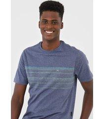 camiseta wg geometric signature azul - kanui