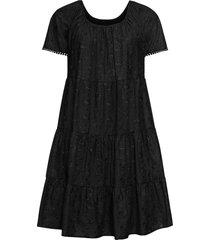 abito con ricamo traforato (nero) - bodyflirt