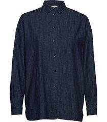edith denim shirt overhemd met lange mouwen blauw lexington clothing