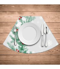 jogo americano para mesa redonda wevans flores natal kit com 4 pçs