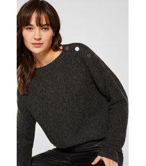 sweater con lana gris esprit