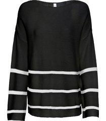 maglione oversize (nero) - rainbow