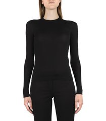 saint laurent knitted pullover in cashmere silk and wool blend