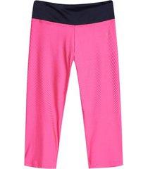 leggings deportivo corto con pretina color rosado, talla s