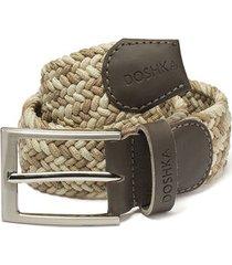 cinturón trenzado combinado beige y hueso doshka