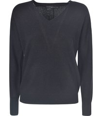 360 sweater v-neck ribbed sweater