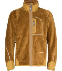 and wander funnel-neck fleece jacket - brown