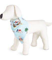 matching tropical santa family pajama pet bandana