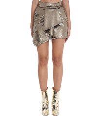 alexandre vauthier skirt in gold polyester