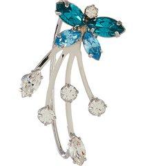 blue crystal butterfly ear cuff