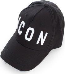 dsquared2 gabardine baseball cap w/ icon logo
